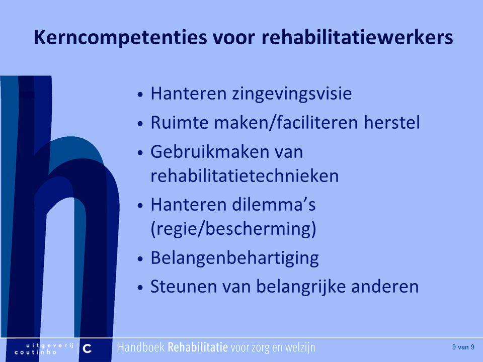 Kerncompetenties voor rehabilitatiewerkers