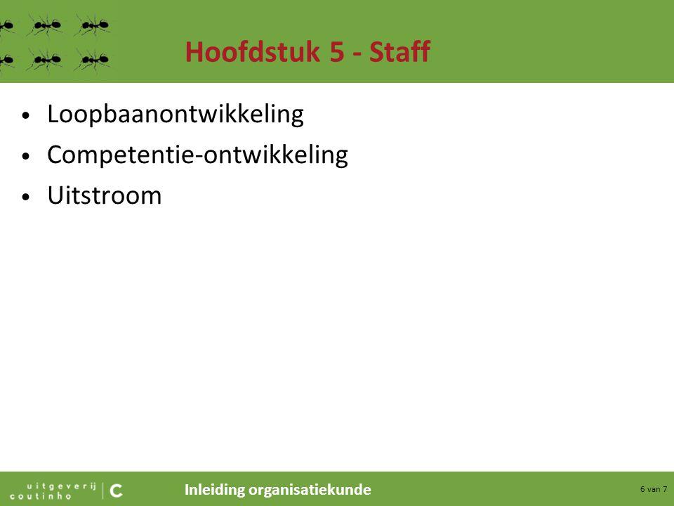 Hoofdstuk 5 - Staff Loopbaanontwikkeling Competentie-ontwikkeling