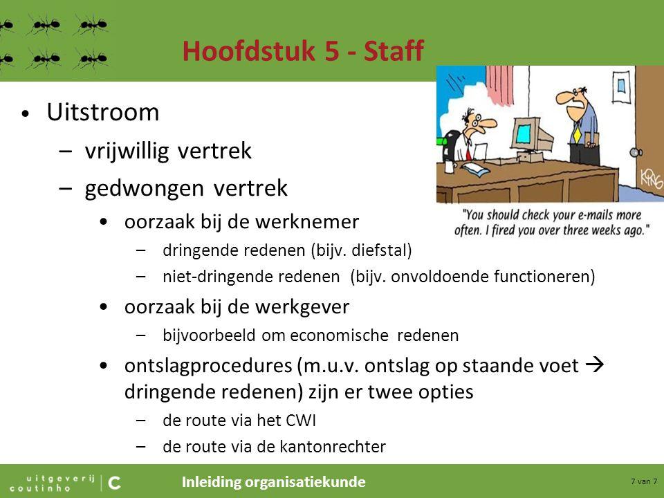 Hoofdstuk 5 - Staff Uitstroom vrijwillig vertrek gedwongen vertrek