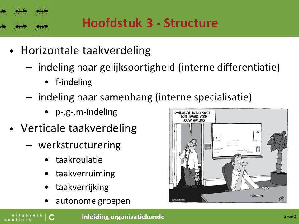 Hoofdstuk 3 - Structure Horizontale taakverdeling