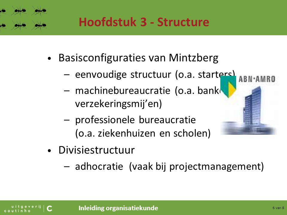 Hoofdstuk 3 - Structure Basisconfiguraties van Mintzberg
