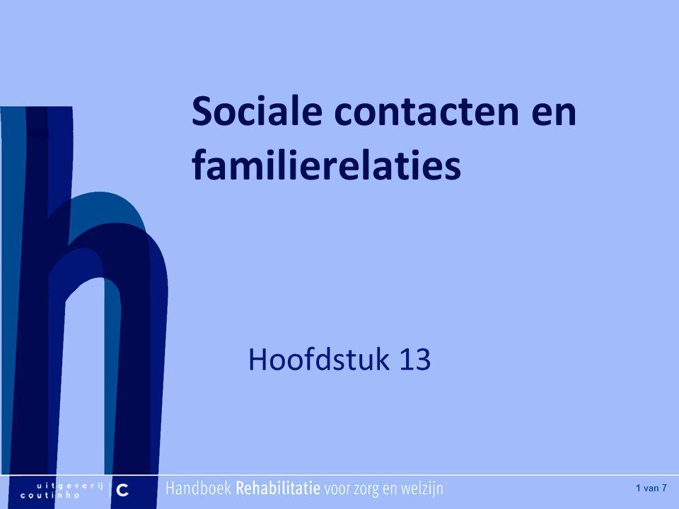 Sociale contacten en familierelaties