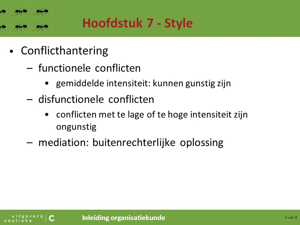 Hoofdstuk 7 - Style Conflicthantering functionele conflicten