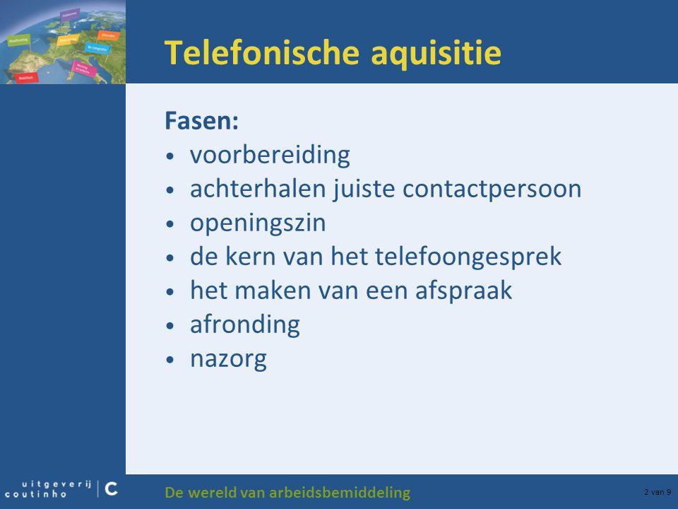 Telefonische aquisitie