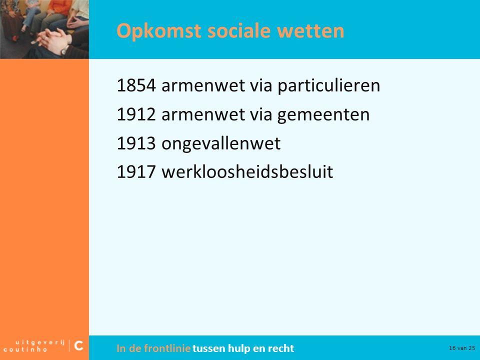 Opkomst sociale wetten