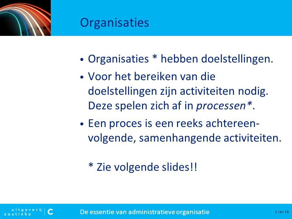 Organisaties Organisaties * hebben doelstellingen.