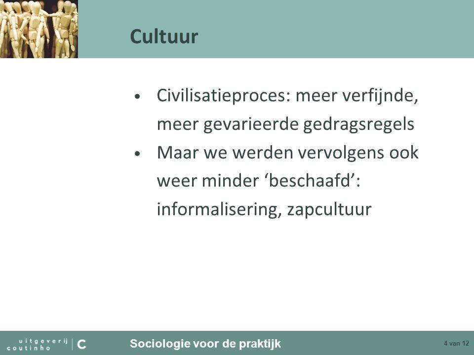 Cultuur Civilisatieproces: meer verfijnde,