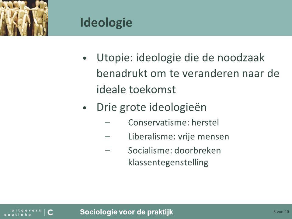 Ideologie Utopie: ideologie die de noodzaak