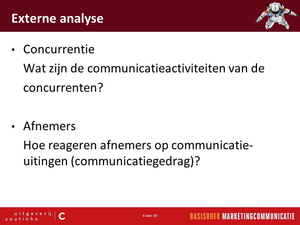 Externe analyse Concurrentie