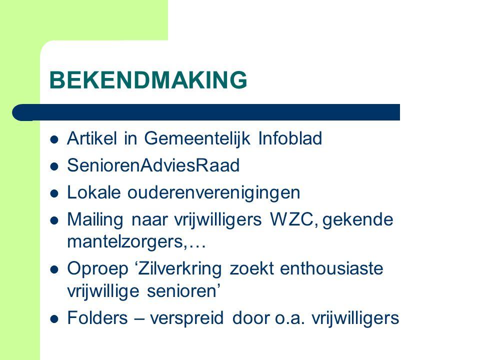 BEKENDMAKING Artikel in Gemeentelijk Infoblad SeniorenAdviesRaad