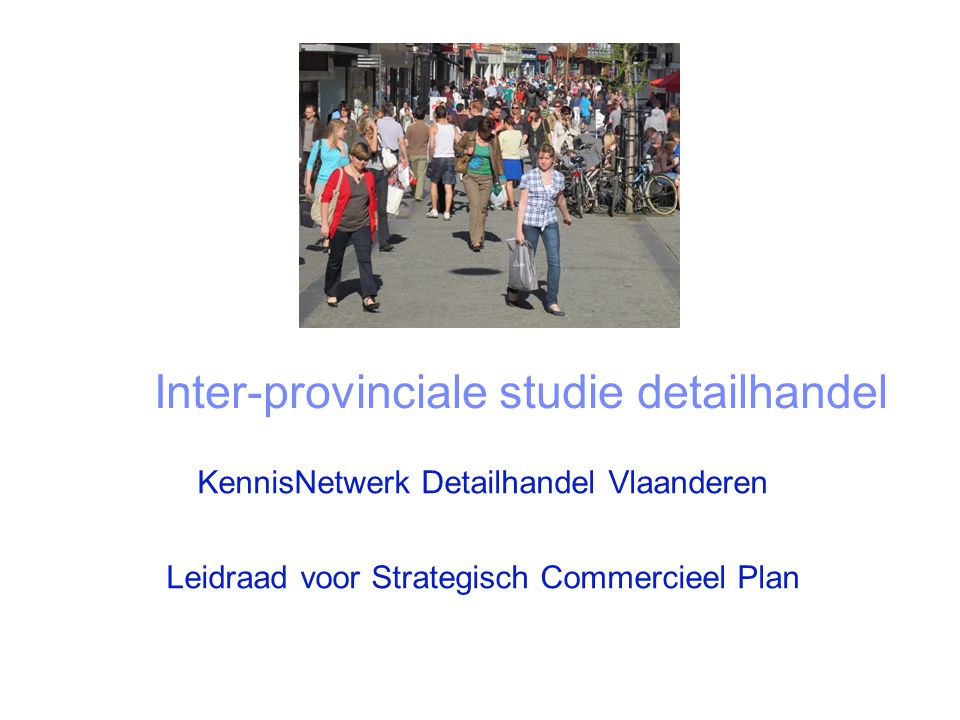 Inter-provinciale studie detailhandel