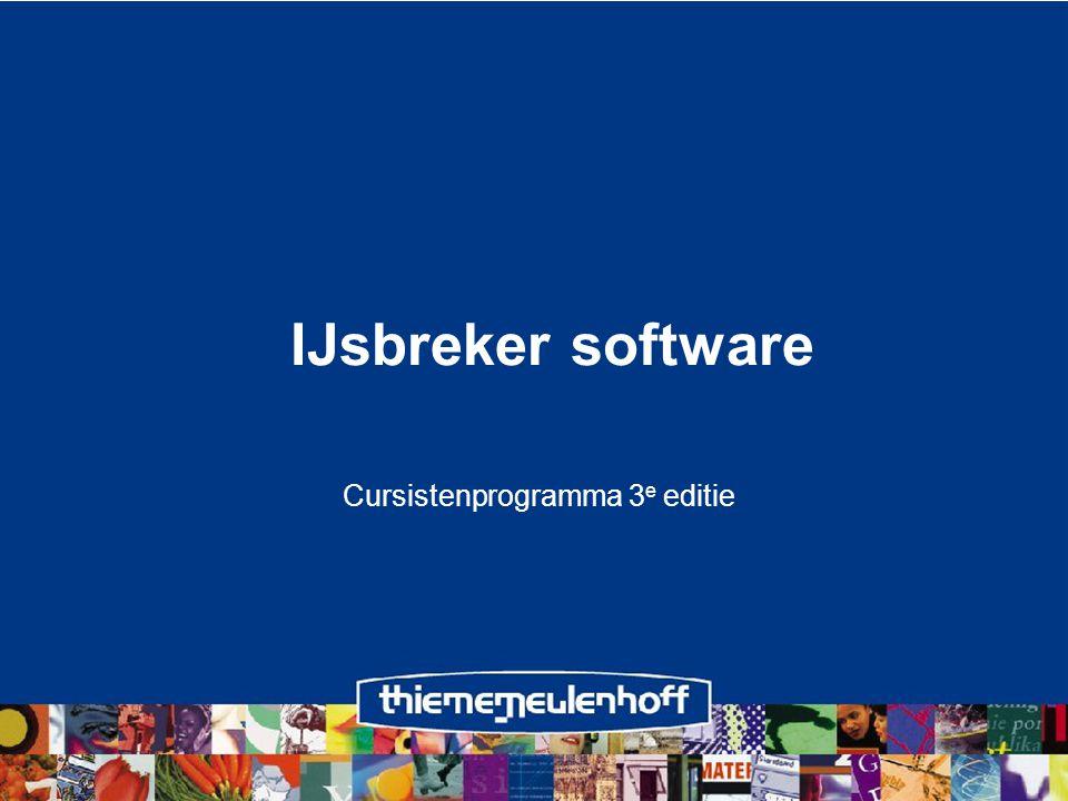 Cursistenprogramma 3e editie