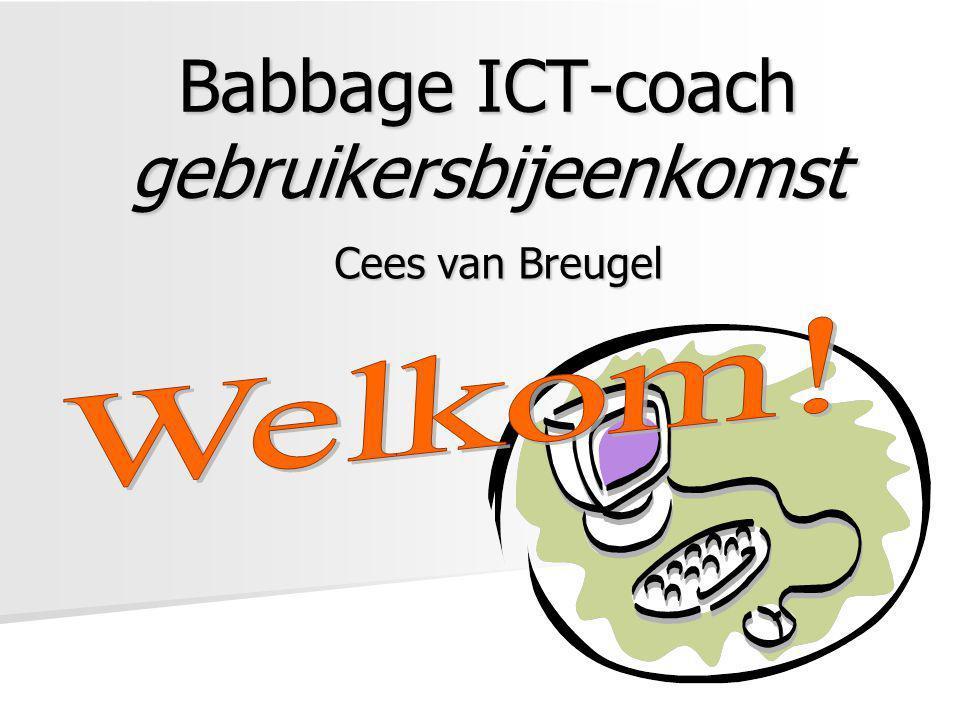 Babbage ICT-coach gebruikersbijeenkomst