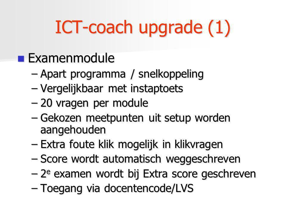 ICT-coach upgrade (1) Examenmodule Apart programma / snelkoppeling