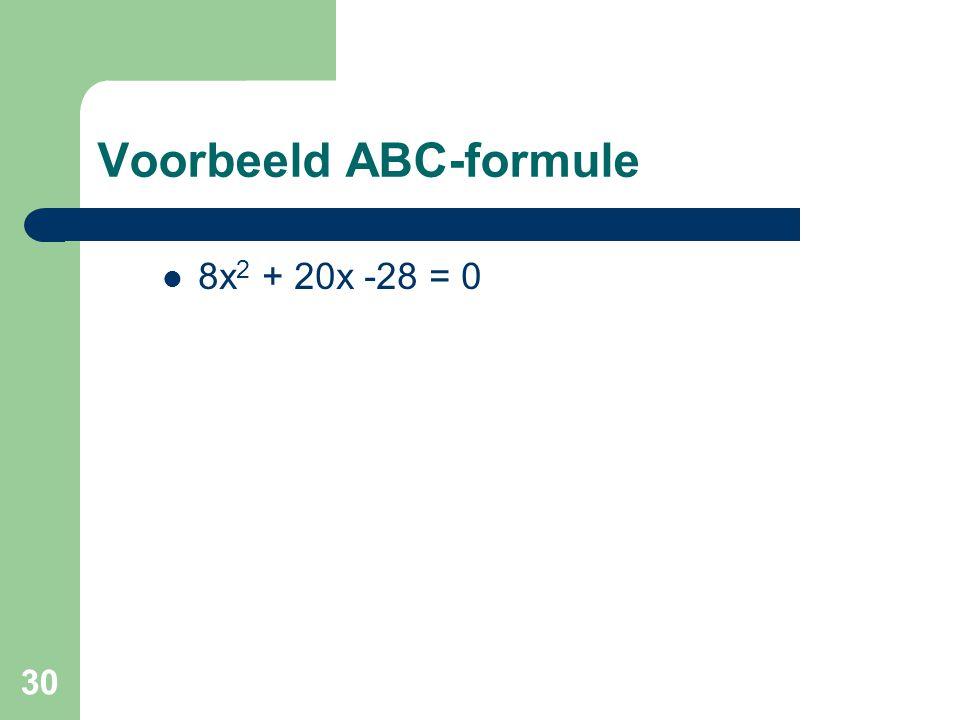 Voorbeeld ABC-formule