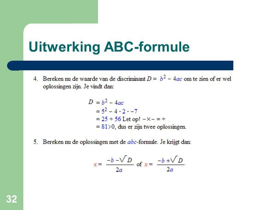 Uitwerking ABC-formule