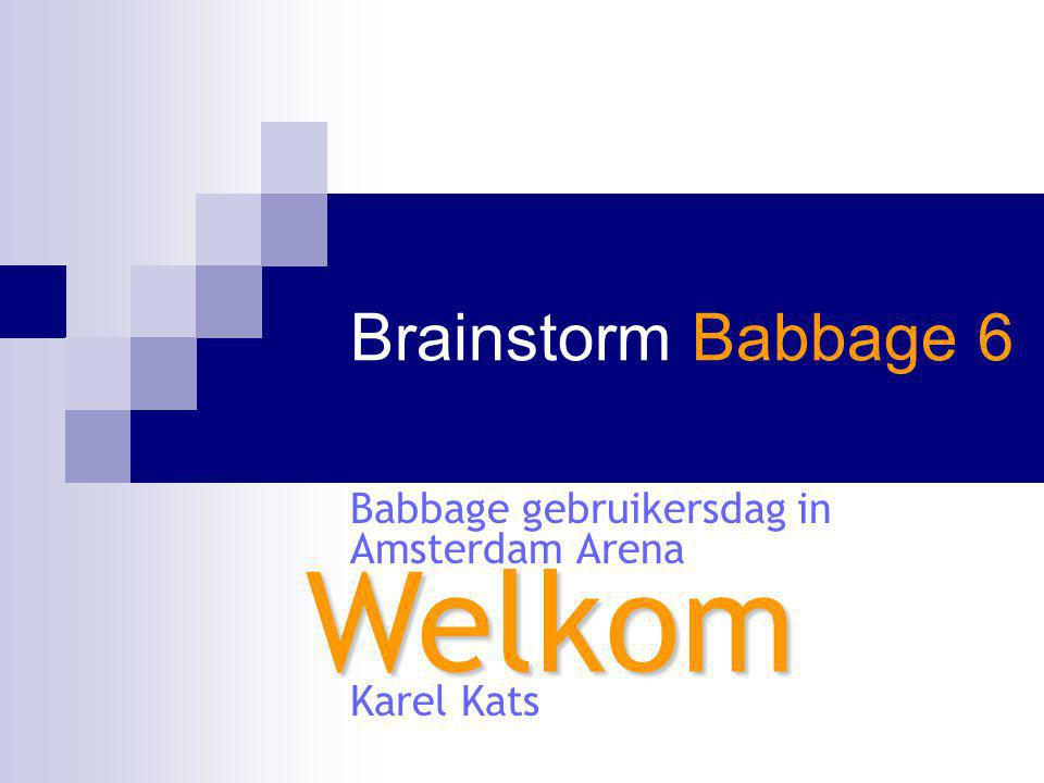 Babbage gebruikersdag in Amsterdam Arena Karel Kats