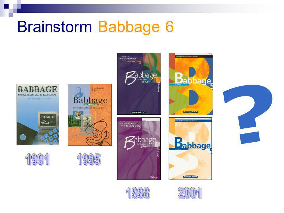 Brainstorm Babbage 6 1991 1995 1998 2001