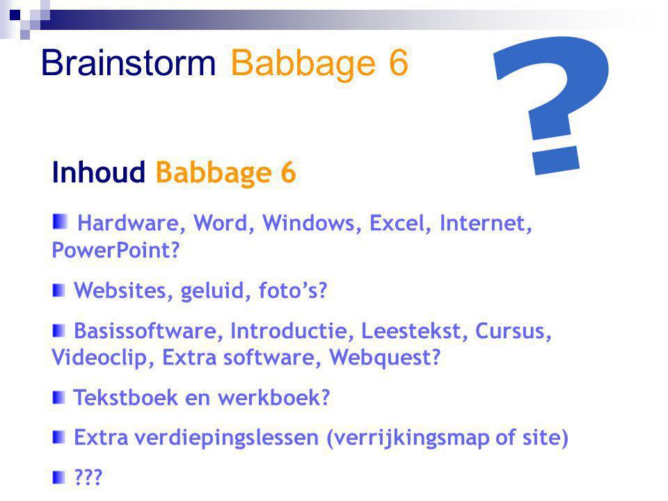 Brainstorm Babbage 6 Inhoud Babbage 6