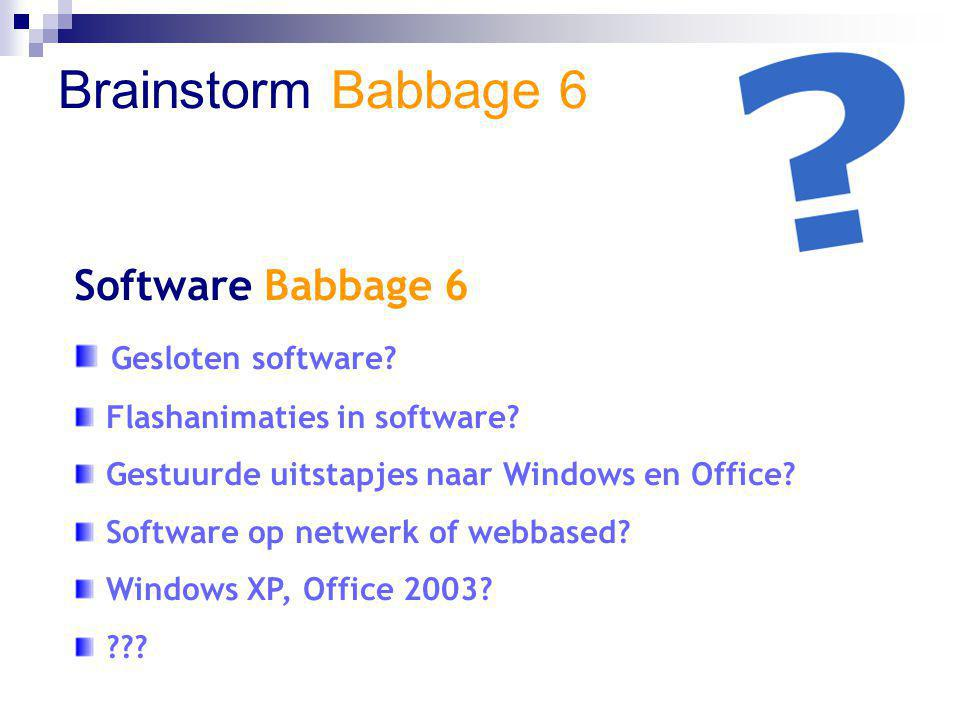 Brainstorm Babbage 6 Software Babbage 6 Gesloten software