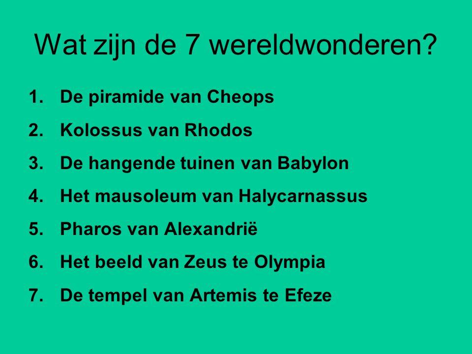 Wat zijn de 7 wereldwonderen