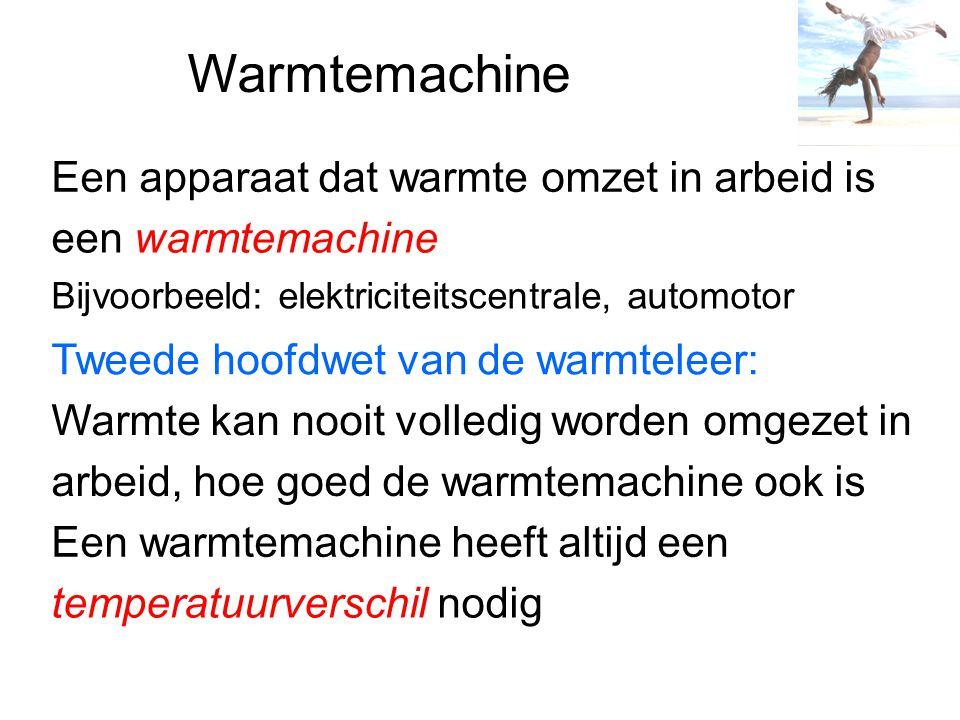 Warmtemachine Een apparaat dat warmte omzet in arbeid is
