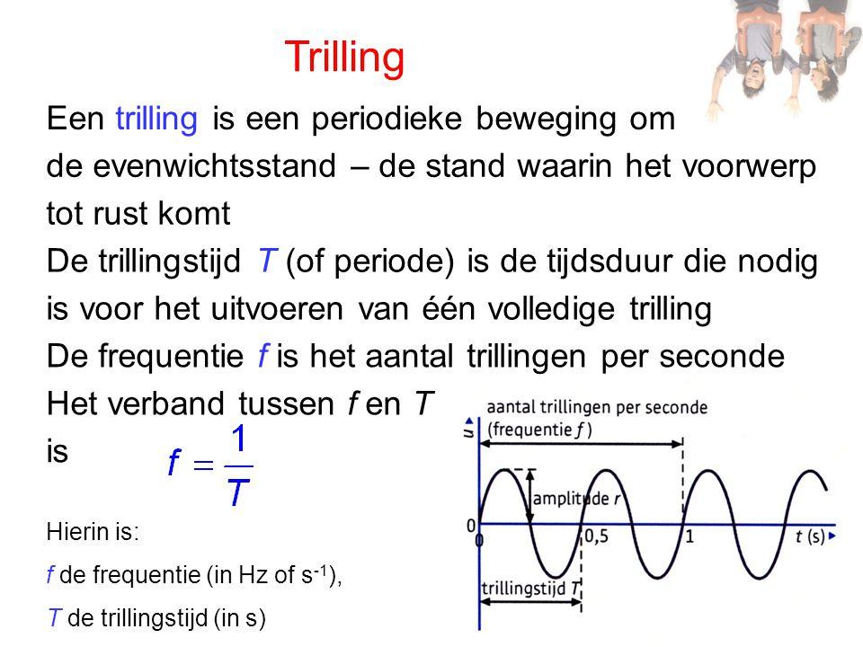 Trilling Een trilling is een periodieke beweging om