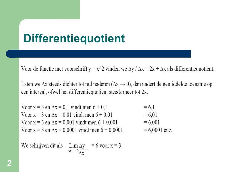 Differentiequotient