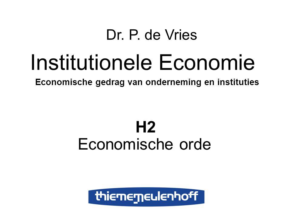 Economische gedrag van onderneming en instituties