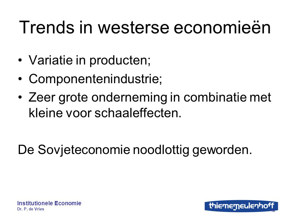 Trends in westerse economieën