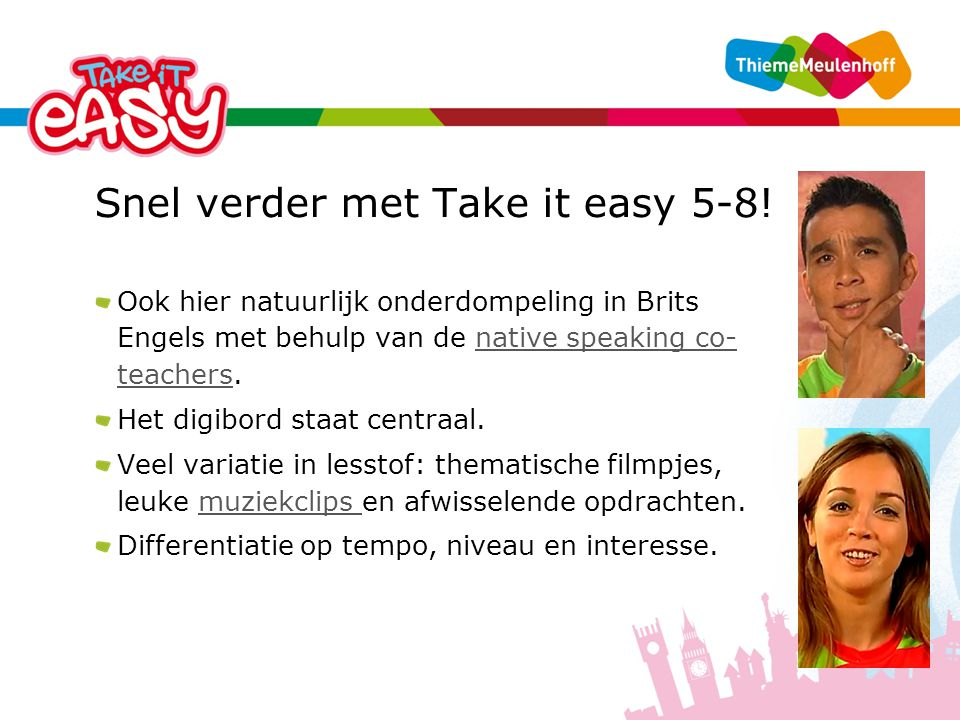 Snel verder met Take it easy 5-8!