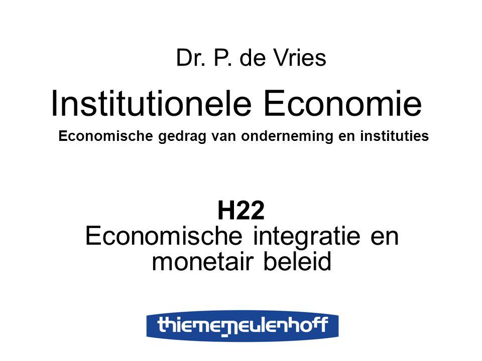 Economische integratie en monetair beleid