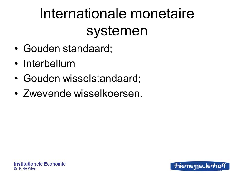 Internationale monetaire systemen