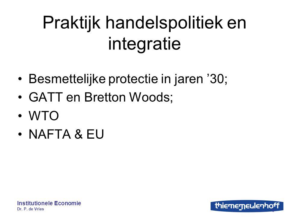 Praktijk handelspolitiek en integratie
