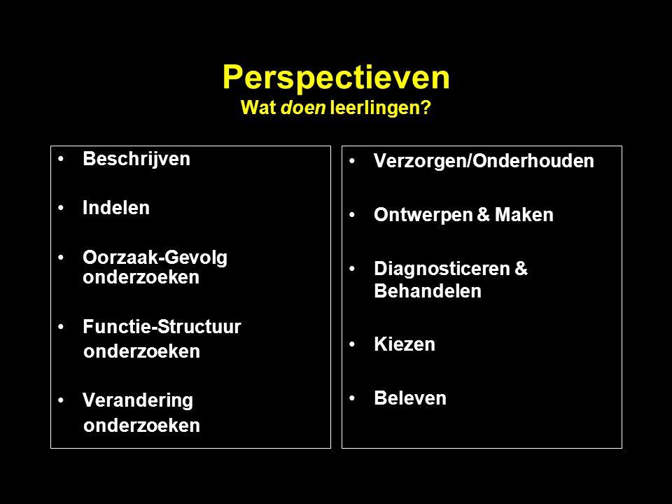 Perspectieven Wat doen leerlingen