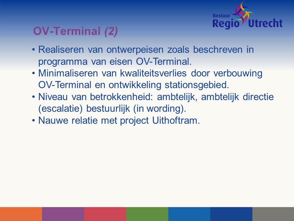 OV-Terminal (2) Realiseren van ontwerpeisen zoals beschreven in programma van eisen OV-Terminal.