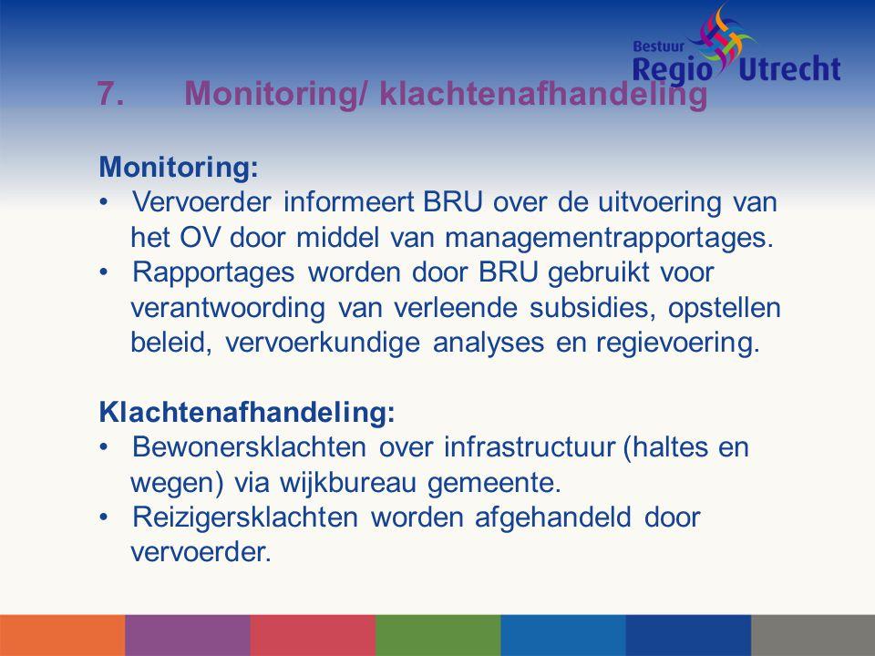7. Monitoring/ klachtenafhandeling