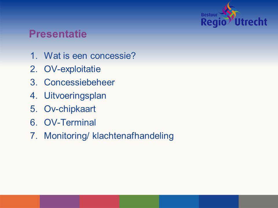 Presentatie Wat is een concessie OV-exploitatie Concessiebeheer
