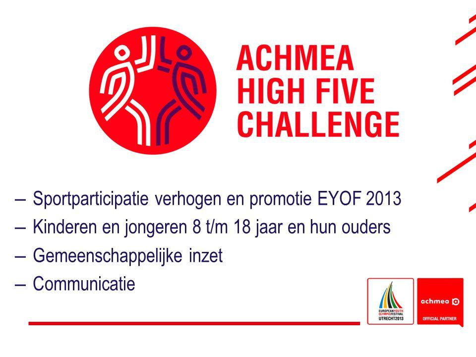 Sportparticipatie verhogen en promotie EYOF 2013