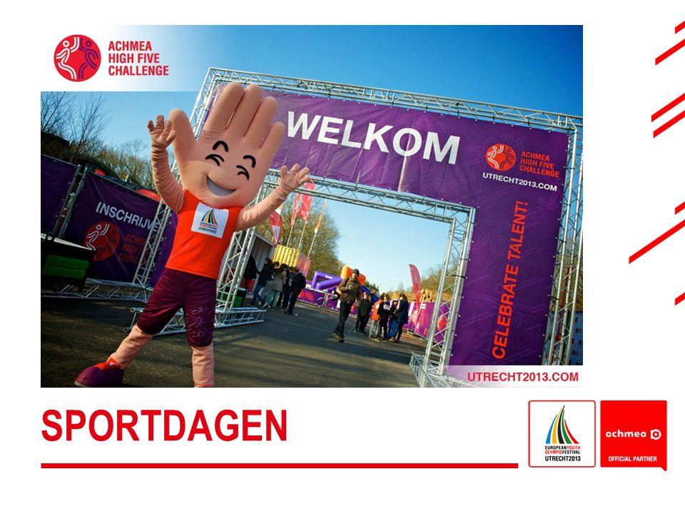 12.000 kinderen uit heel Nederland komen naar Utrecht (sportcentrum Olympos) voor hun EYOF Sportdag: