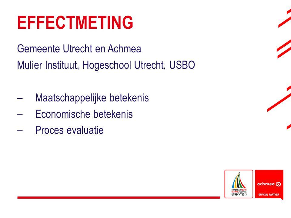 EFFECTMETING Gemeente Utrecht en Achmea