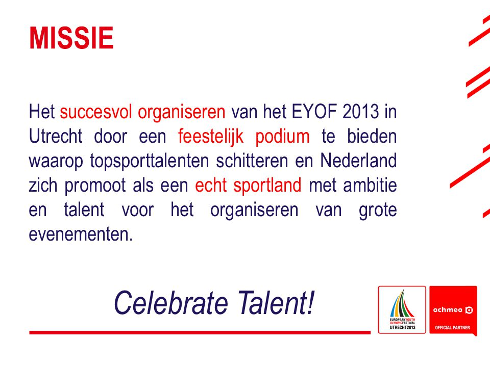 Celebrate Talent! Missie