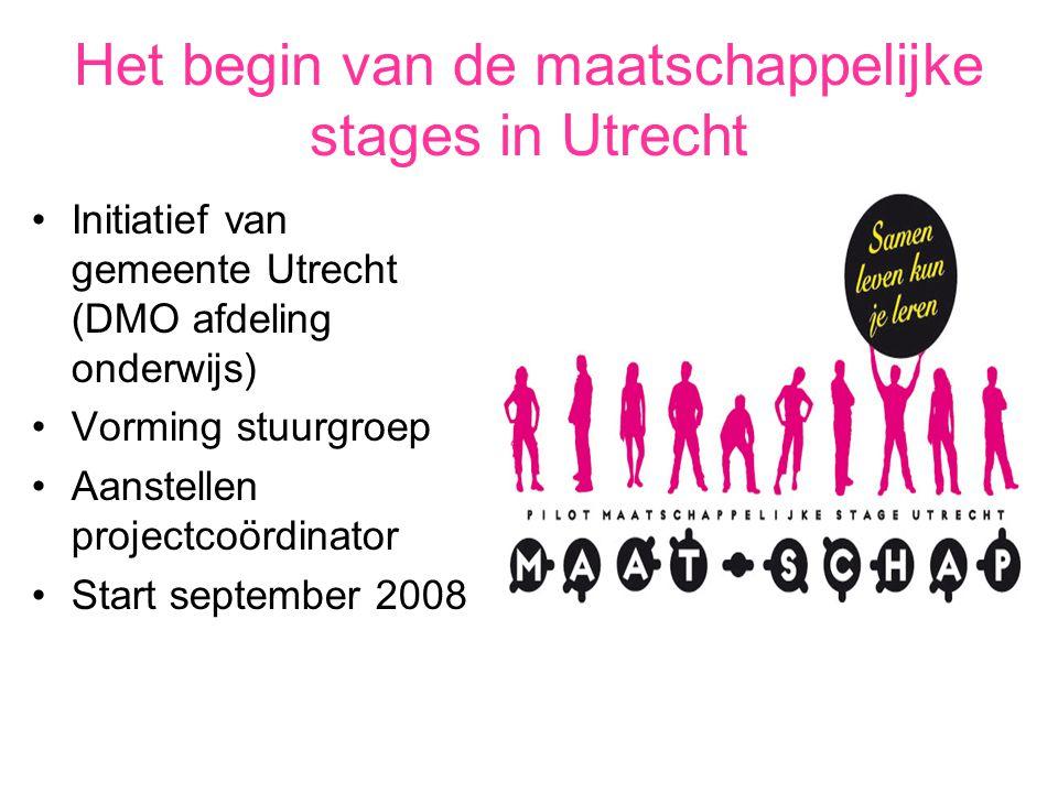 Het begin van de maatschappelijke stages in Utrecht