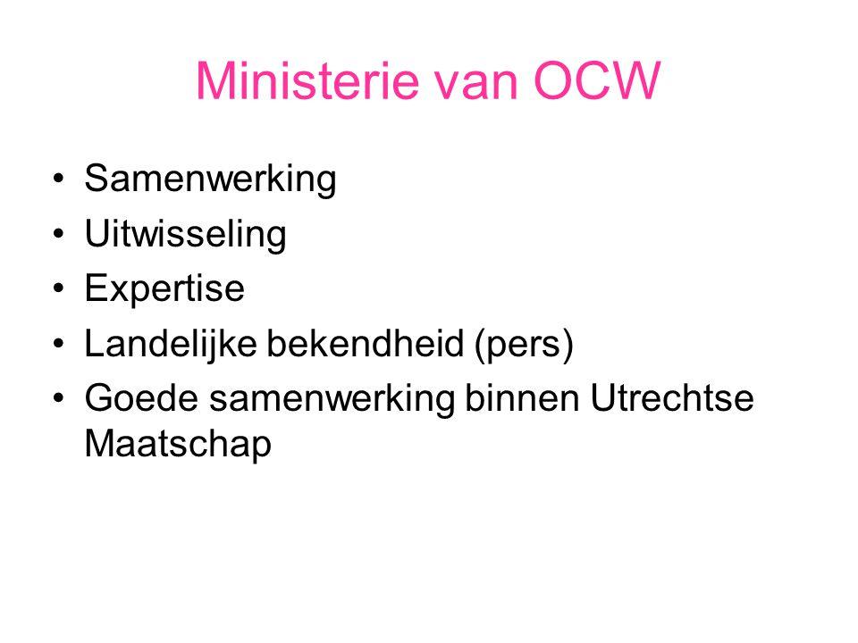 Ministerie van OCW Samenwerking Uitwisseling Expertise