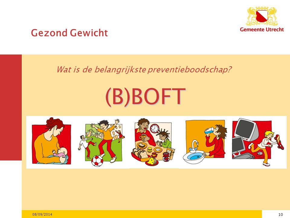 (B)BOFT Gezond Gewicht Wat is de belangrijkste preventieboodschap