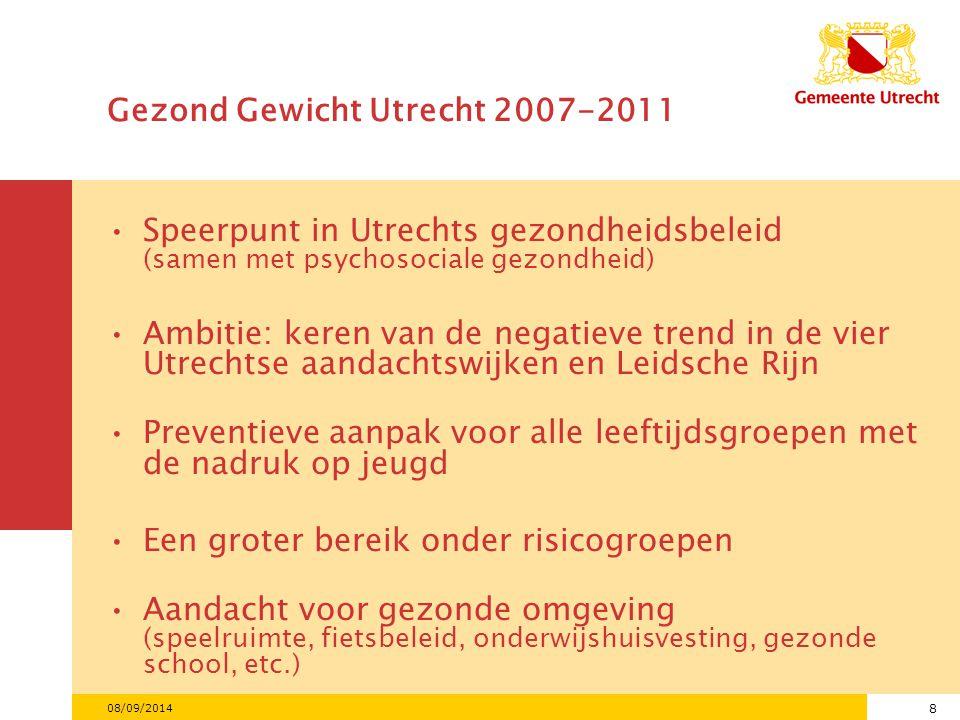 Gezond Gewicht Utrecht 2007-2011