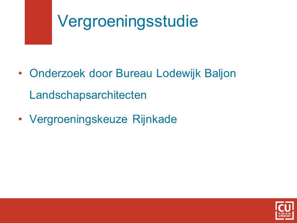 Vergroeningsstudie Onderzoek door Bureau Lodewijk Baljon Landschapsarchitecten.