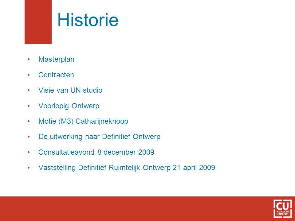 Historie Masterplan Contracten Visie van UN studio Voorlopig Ontwerp