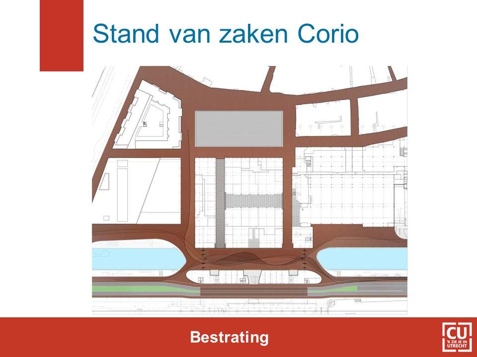Stand van zaken Corio Bestrating