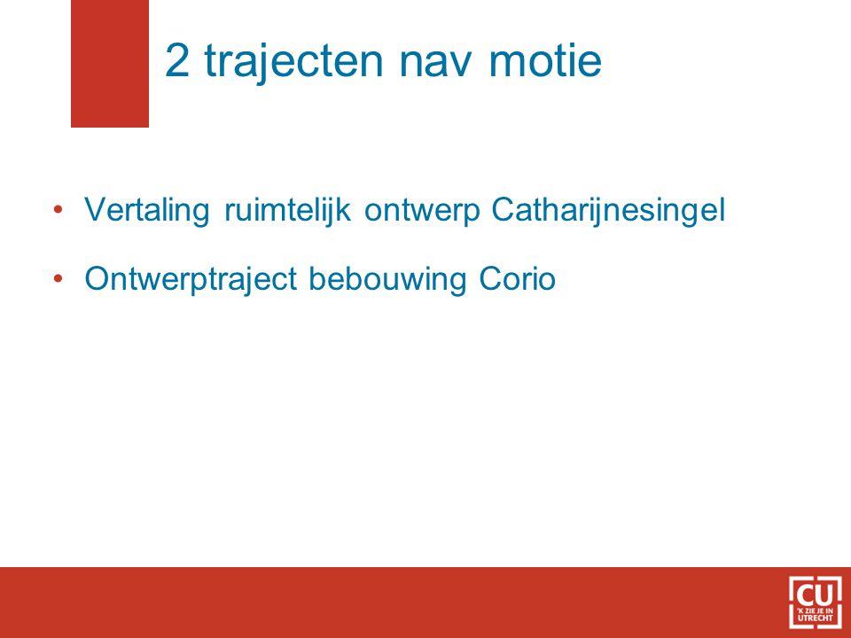 2 trajecten nav motie Vertaling ruimtelijk ontwerp Catharijnesingel